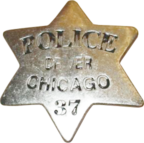 1861 Series - Chicago Police Driver Star - Obverse