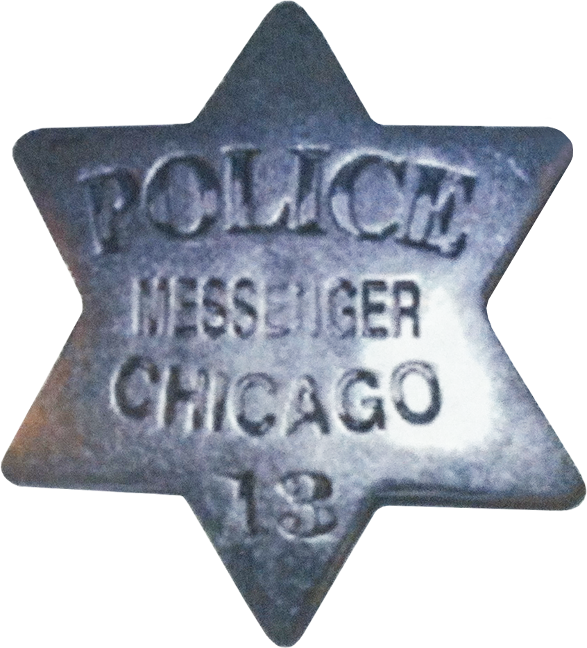 1861 Series - Chicago Police Messenger Star - Obverse