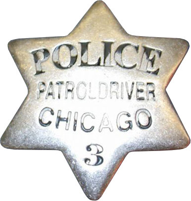 1861 Series - Chicago Police Patrol Driver Star - Obverse