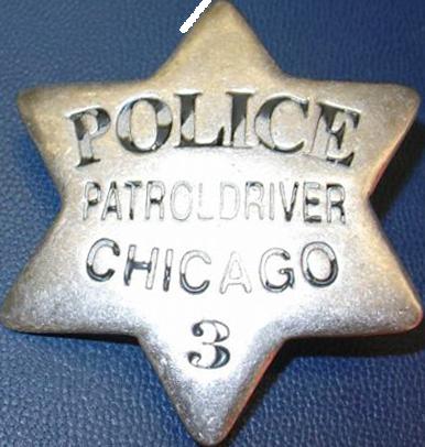 1861 Series - Chicago Police Patrol Driver Star - Obverse