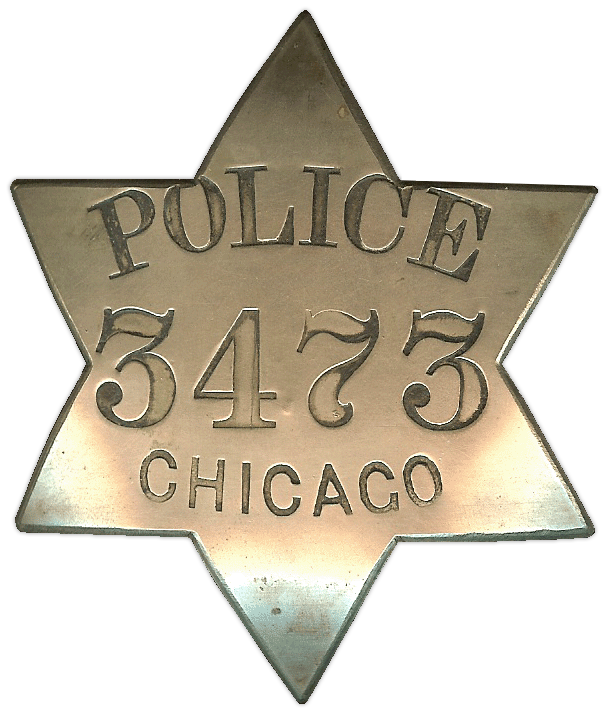 1861 Series - Chicago Police Patrolman Star - 1st Issue Obverse