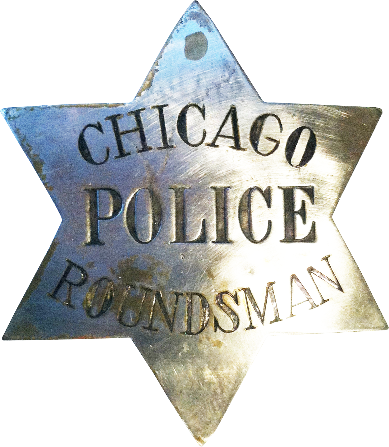 1861 Series - Chicago Police Roundsman Star - 1st Issue Obverse