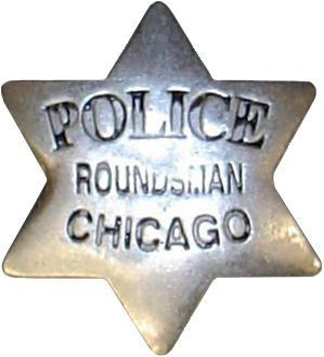 1861 Series - Chicago Police Roundsman Star - 2nd Issue Obverse