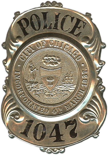 1889 Series - Chicago Police Patrolman Coat Shield - Obverse