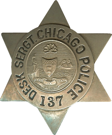 1905 Series - Chicago Police Desk Sergeant Star - Old Seal Obverse