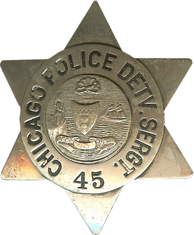 1905 Series - Chicago Police Detective Sergeant Star - Old Seal Obverse
