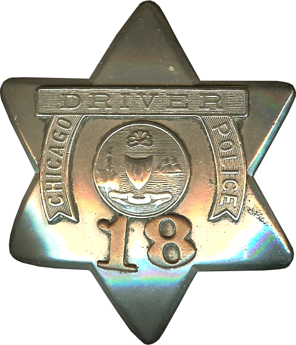 1905 Series - Chicago Police Driver Star - Old Seal Obverse