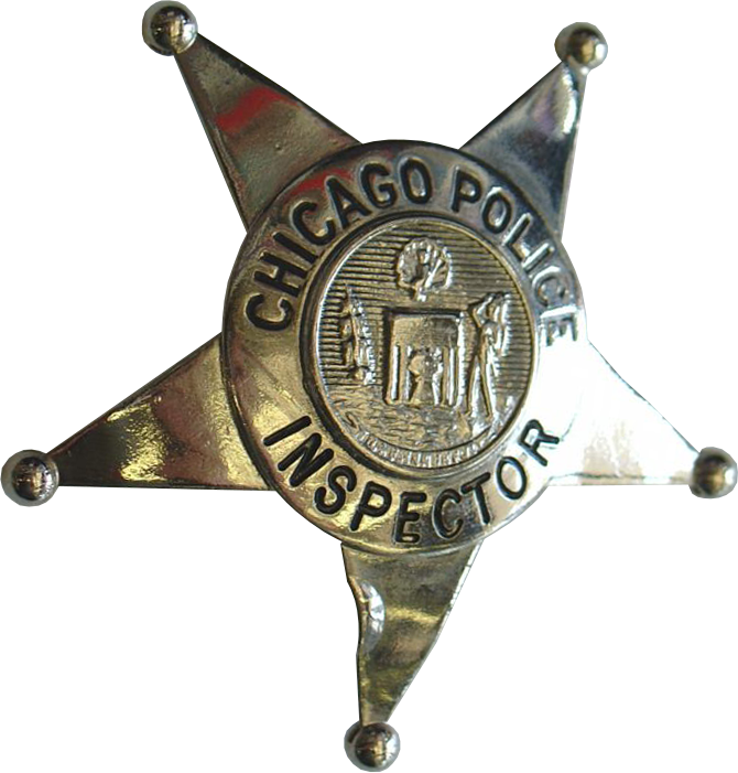 1905 Series - Chicago Police Inspector Star - New Seal Obverse