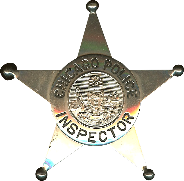 1905 Series - Chicago Police Inspector Star - Old Seal Obverse