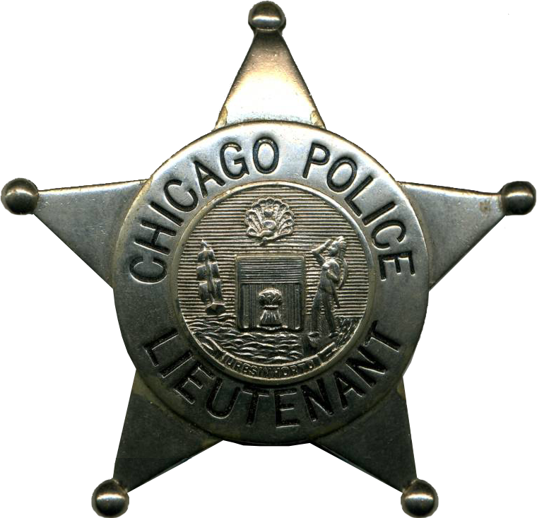 1905 Series - Chicago Police Lieutenant Star - New Seal Obverse