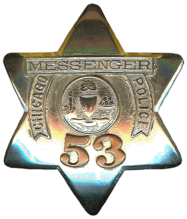 1905 Series - Chicago Police Messenger Star - Old Seal Obverse