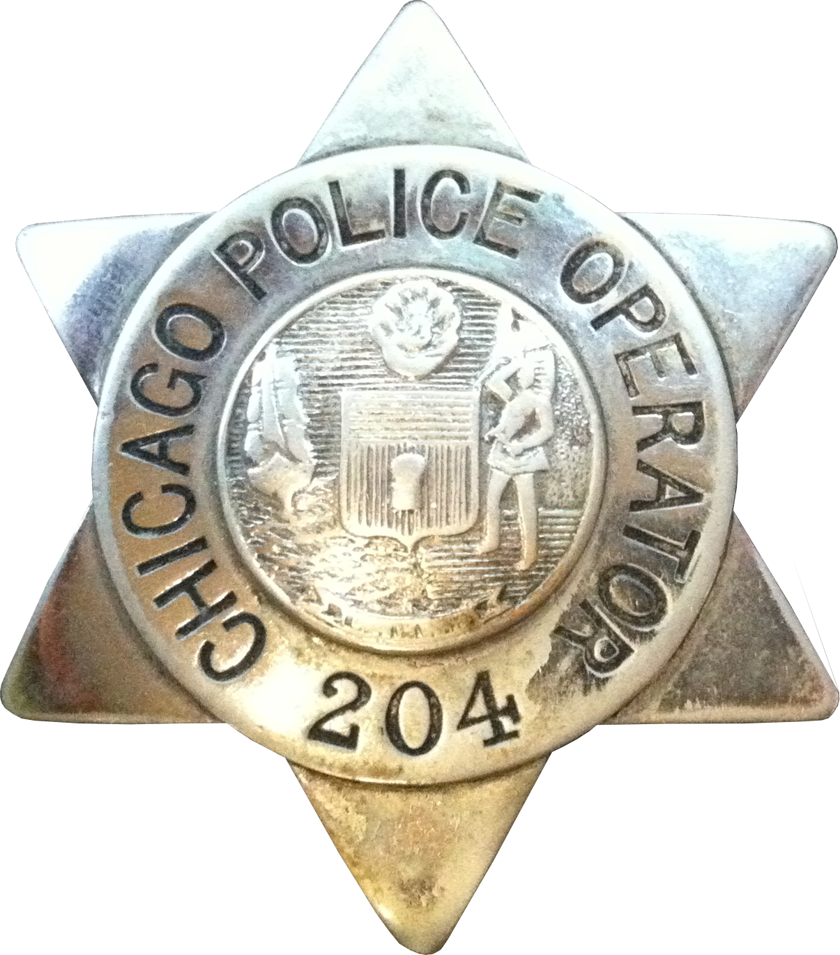 1905 Series - Chicago Police Operator Star - New Seal Obverse
