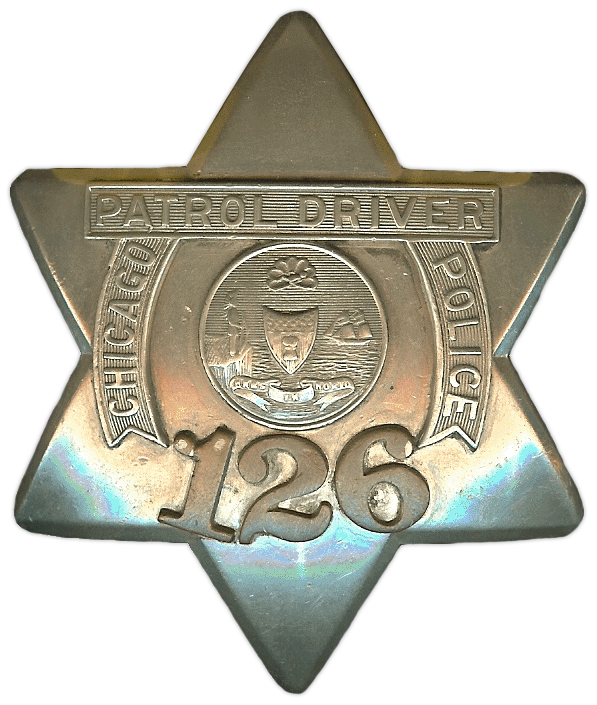 1905 Series - Chicago Police Patrol Driver Star - Old Seal Obverse
