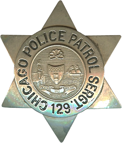 1905 Series - Chicago Police Patrol Sergeant Star - Old Seal Obverse