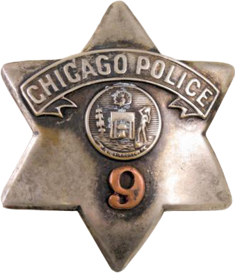 1905 Series - Chicago Police Patrolman Star - New Seal Obverse