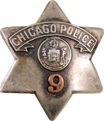 1905 Series - Chicago Police Patrolman Star - New Seal Obverse