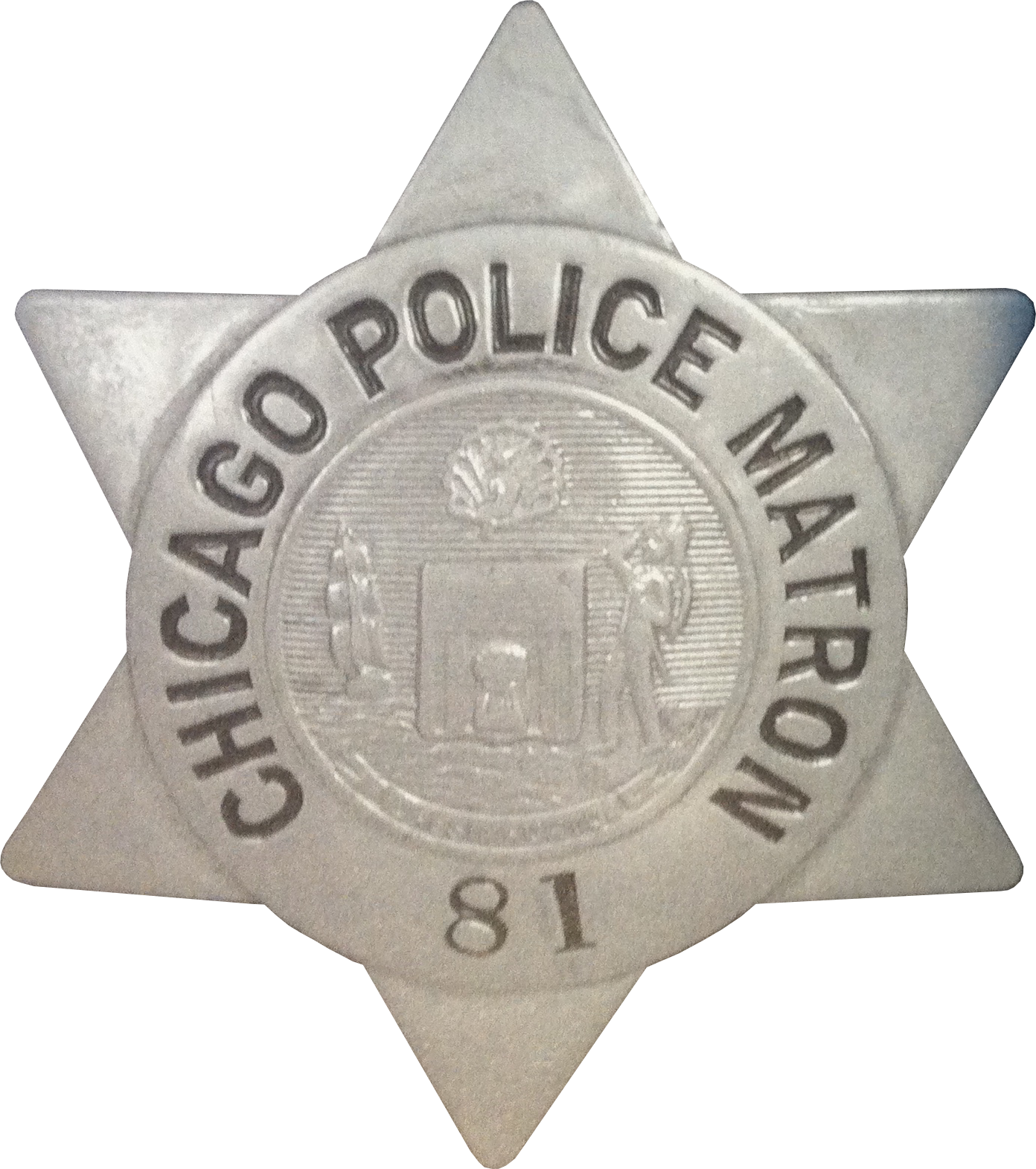 1905 Series - Chicago Police Police Matron Star - New Seal Obverse