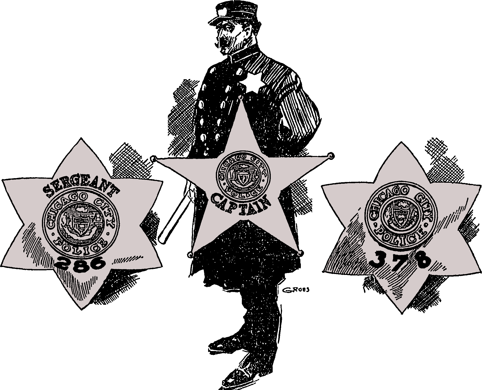 1905 Series - Chicago Police Prototype Stars - Obverse