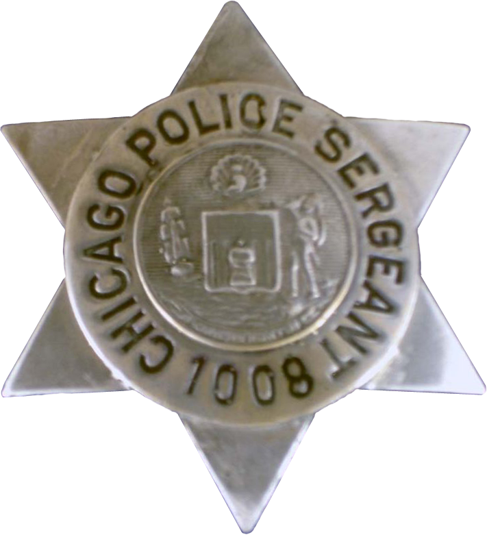 1905 Series - Chicago Police Sergeant Star - New Seal Obverse