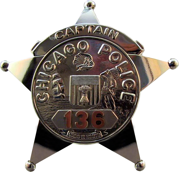 1955 Series - Chicago Police Captain Star - Obverse
