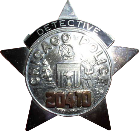 1955 Series - Chicago Police Detective Star - Obverse