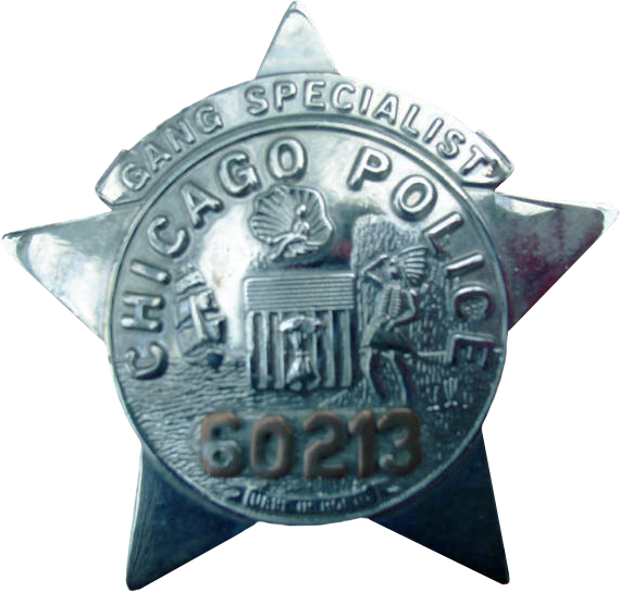 1955 Series - Chicago Police Gang Specialist Star - Obverse