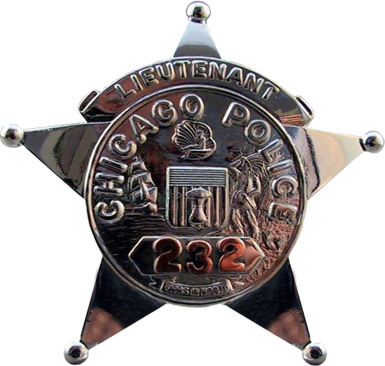 1955 Series - Chicago Police Lieutenant Star - Obverse