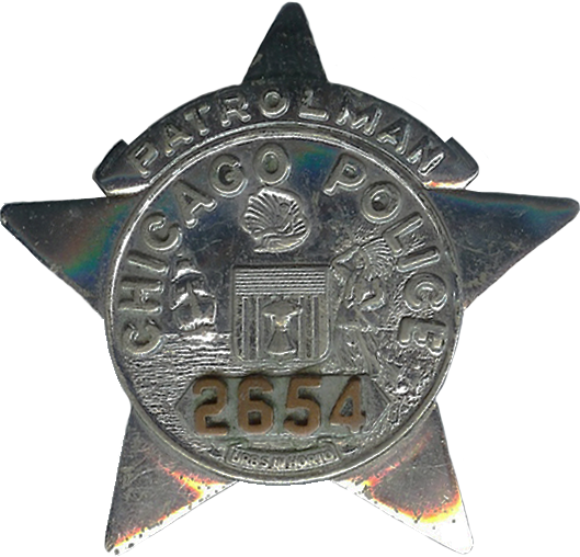 1955 Series - Chicago Police Patrolman Star - Obverse
