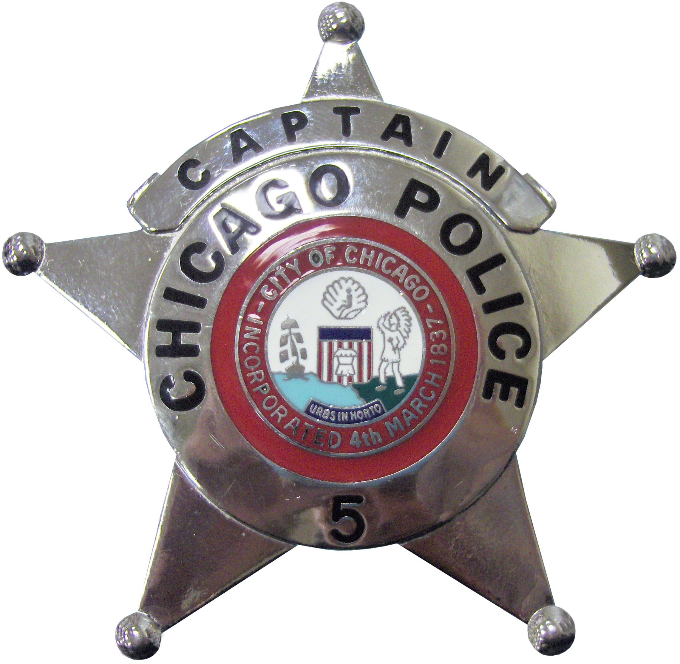 2002 Series - Chicago Police Captain Star - Obverse