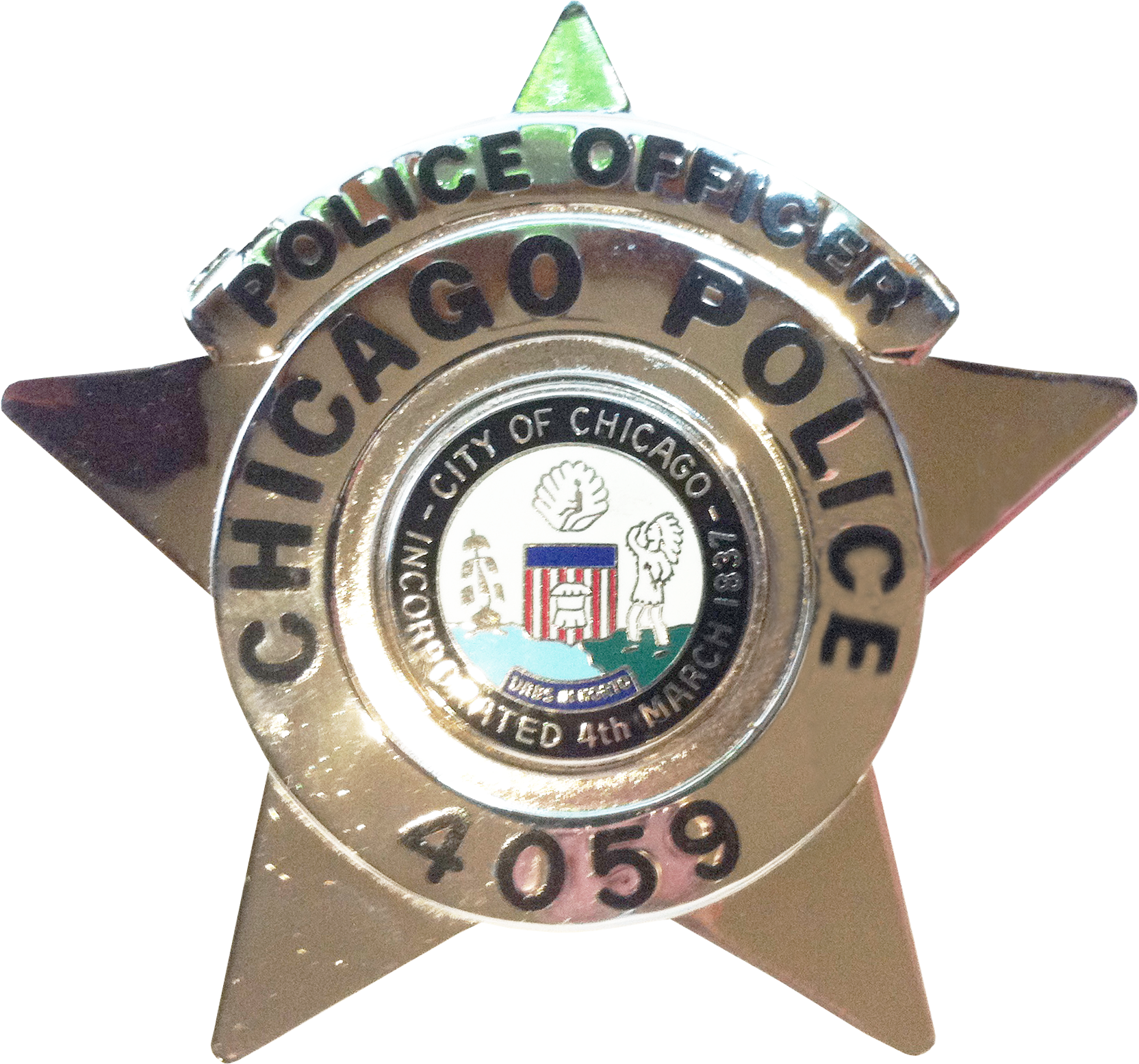 2002 Series - Chicago Police Police Officer Star - Obverse