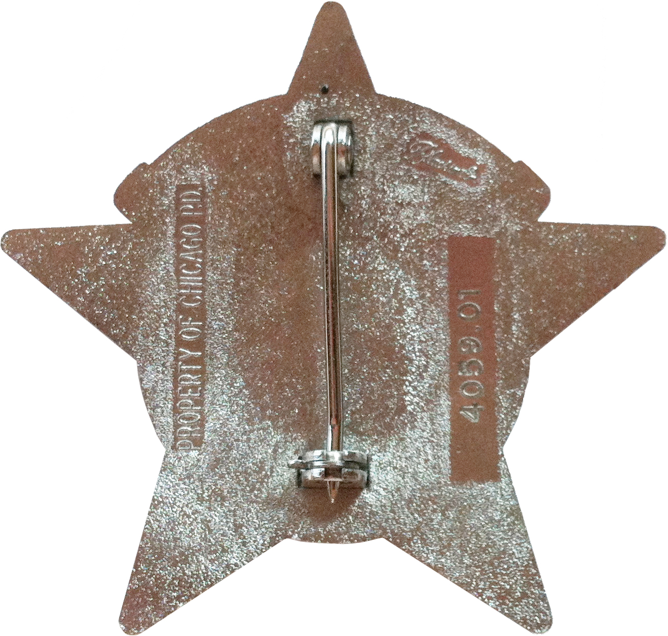 2002 Series - Chicago Police Police Officer Star - Reverse