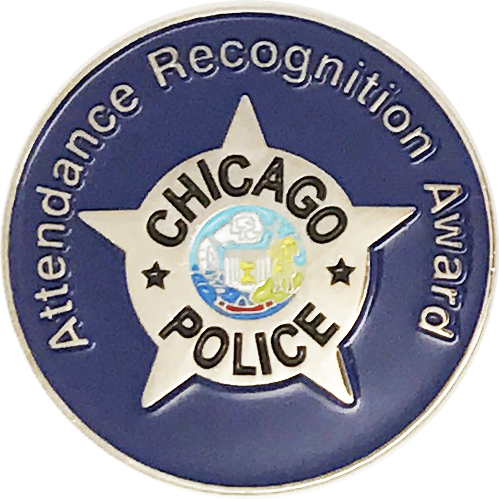 Attendance Recognition Award Civilian Lapel Pin