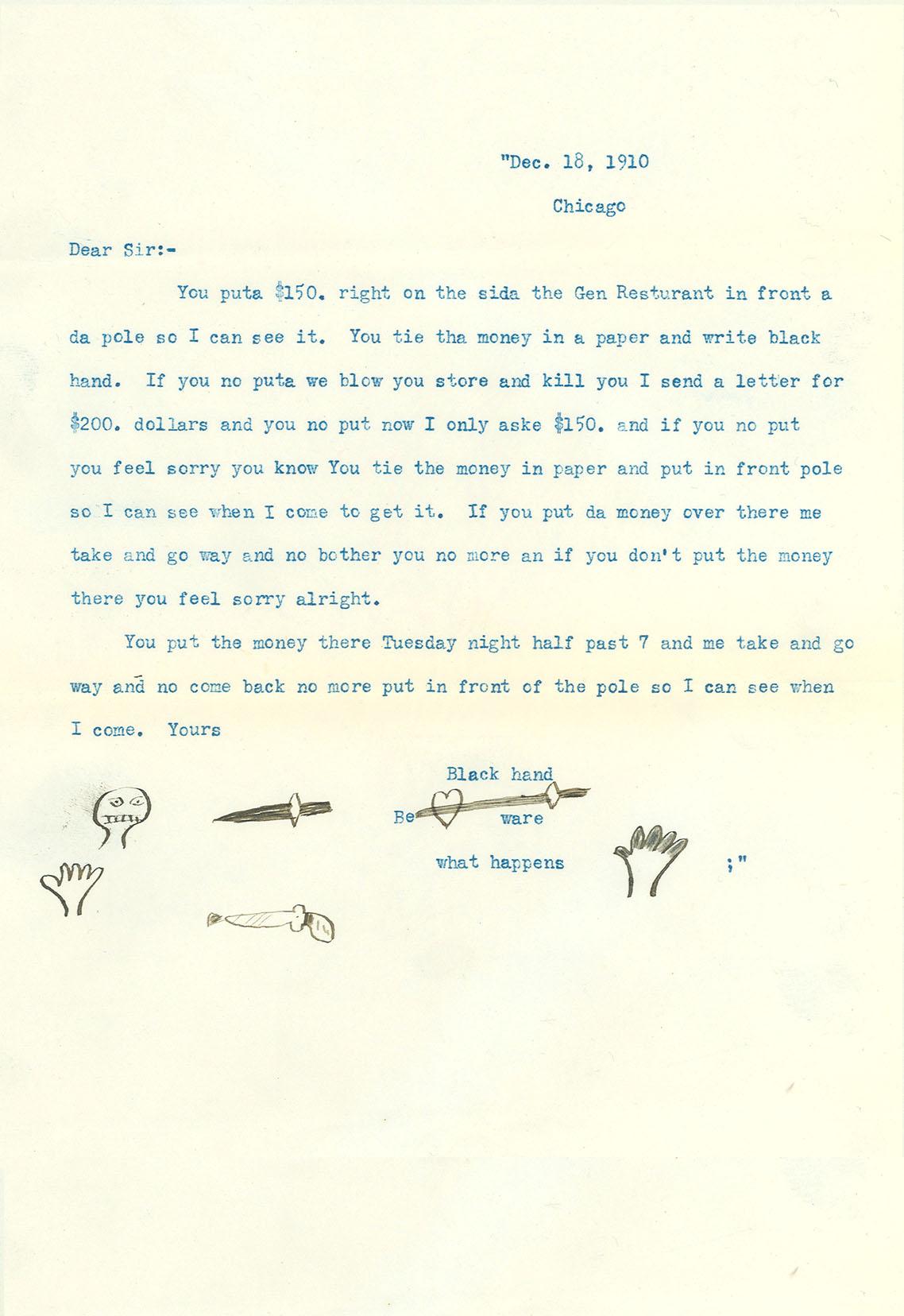 Black Hand Letter 2