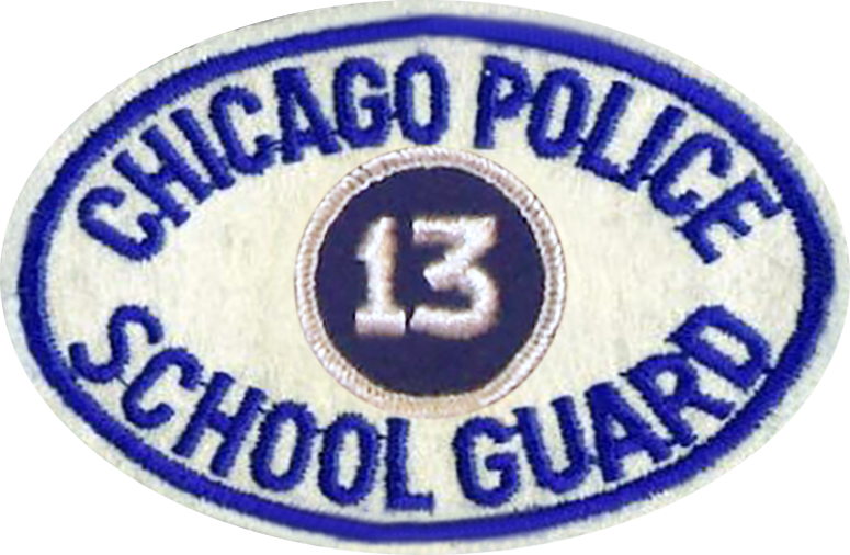 Chicago Police School Guard Shoulder Patch - 1974 Series