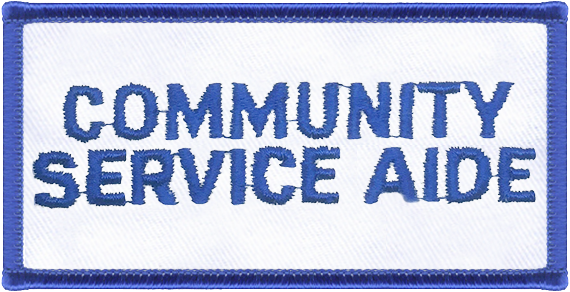 Community Service Aide Designator Patch