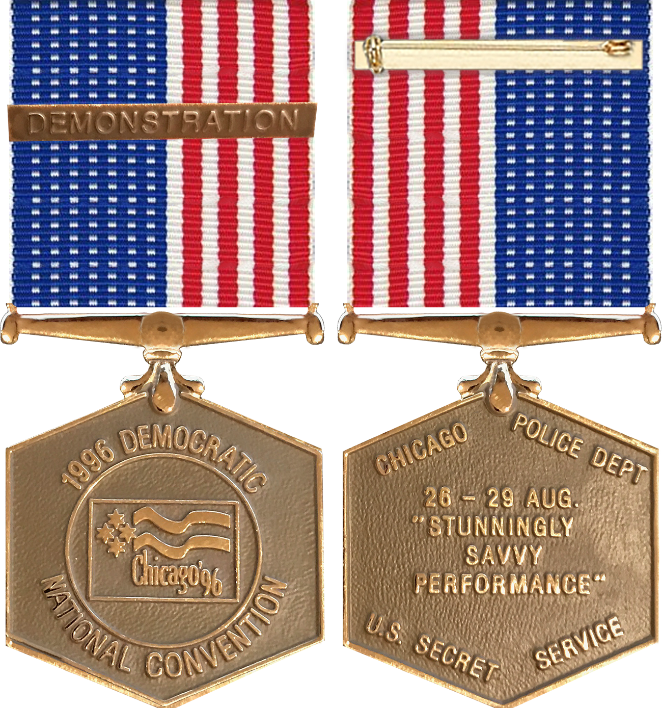 Democratic Convention Service Award Medal