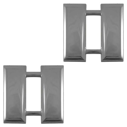 Double Bars - Silver Tone