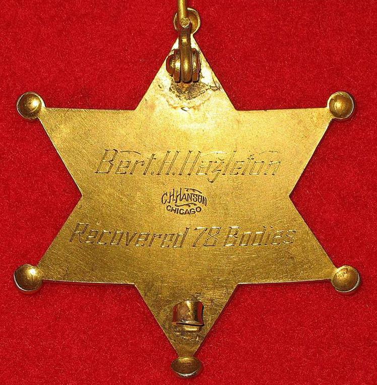 Eastland Disaster Coroner's Badge - Reverse