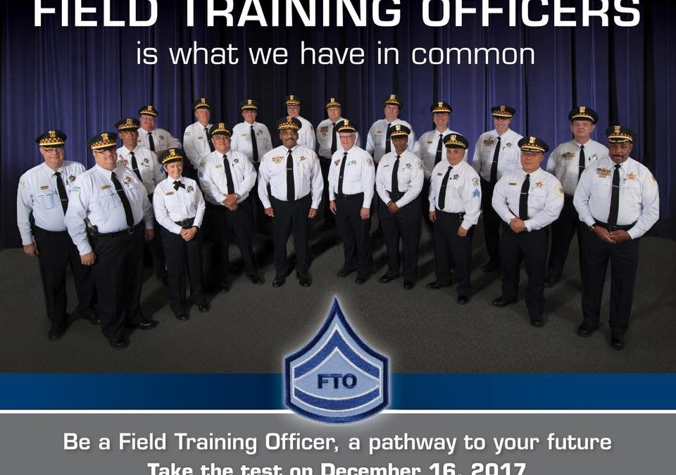 2017 FIELD TRAINING OFFICER EXAM ANNOUNCED