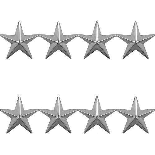 Four Stars - Silver Tone