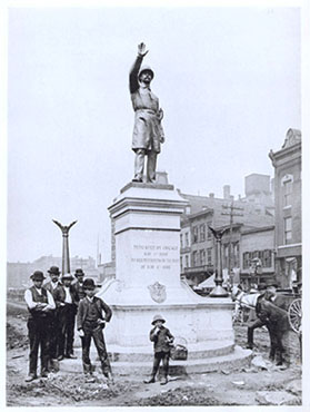 Haymarket Statue at Haymarket Square - 1889