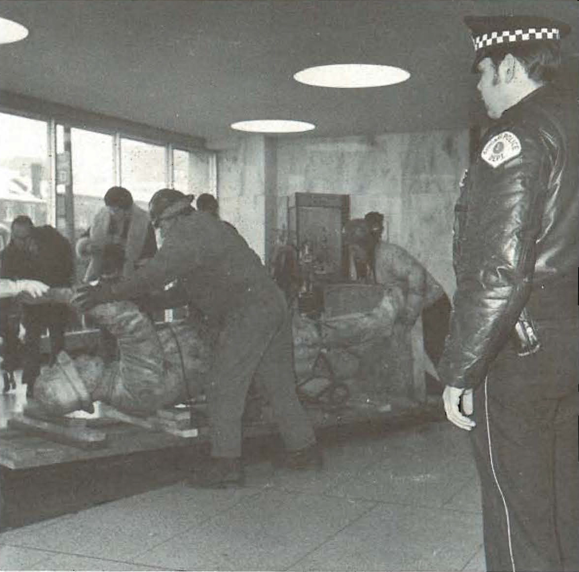 Haymarket Statue at State Street Police Headquarters Workman Moving Statue - 1972