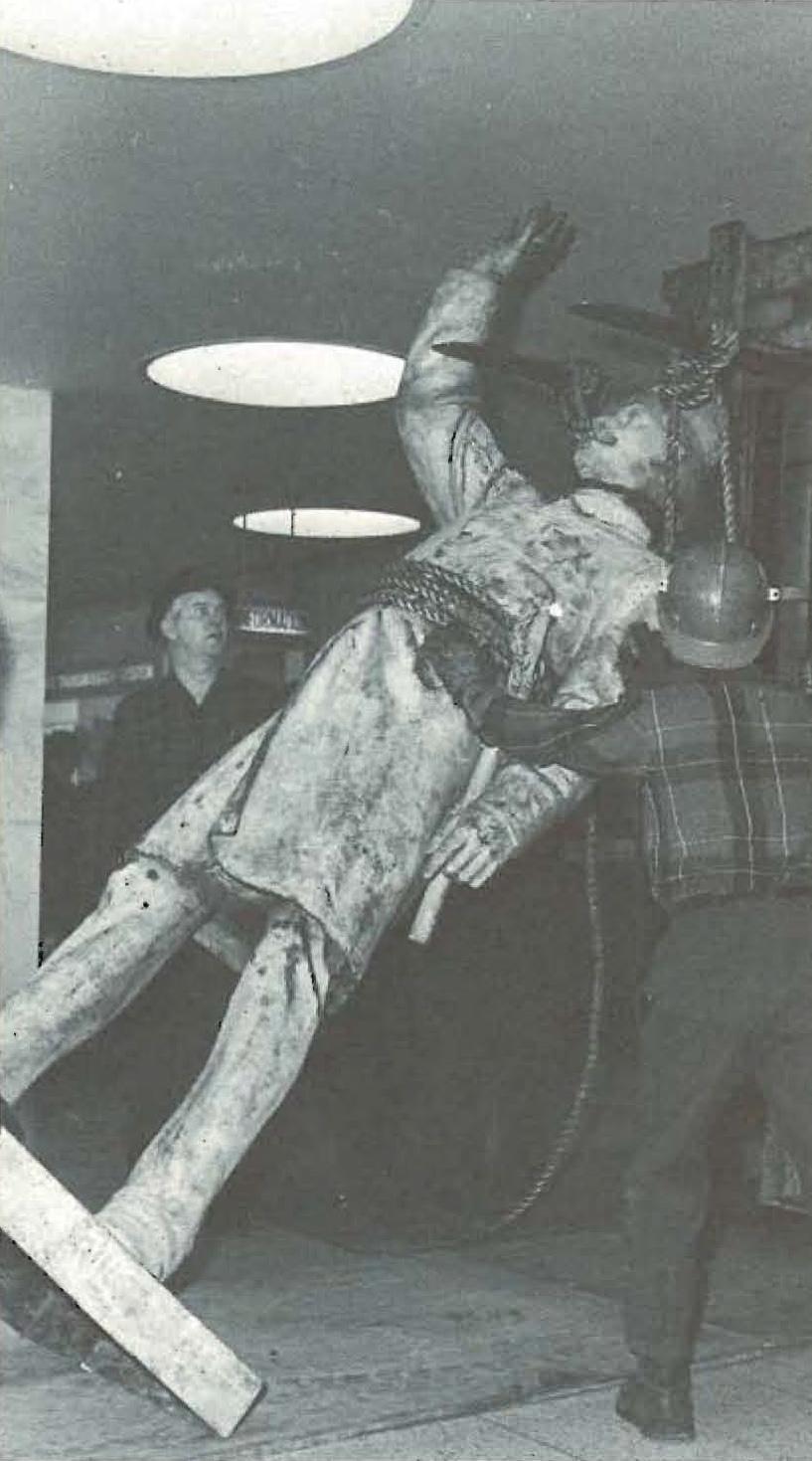 Haymarket Statue at State Street Police Headquarters Workman Raising Statue - 1972