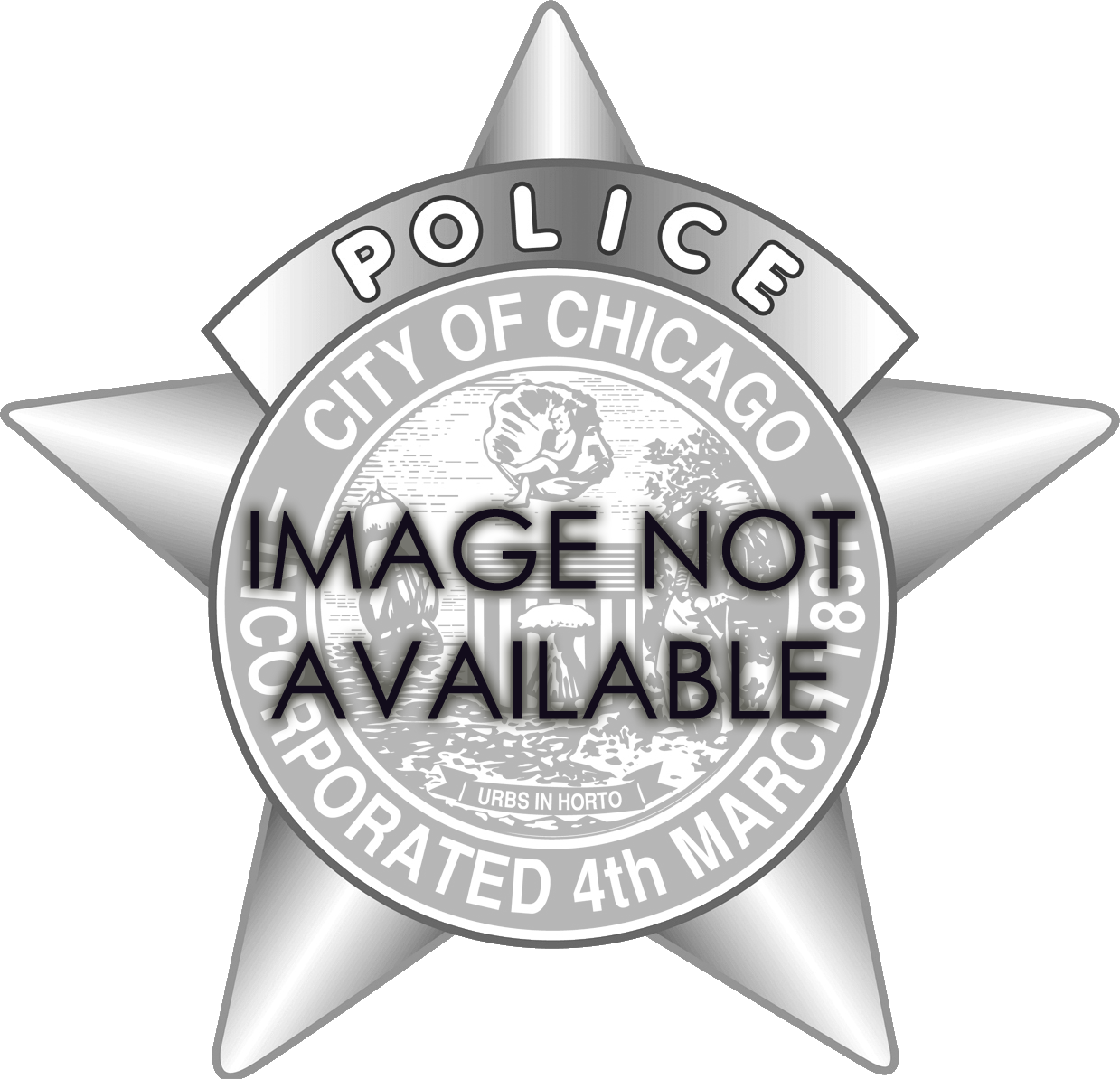 1905 Series - Chicago Police Ambulance Driver Star - Old Seal Obverse
