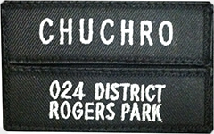 Name Plate with Unit Designator in Cloth - Black