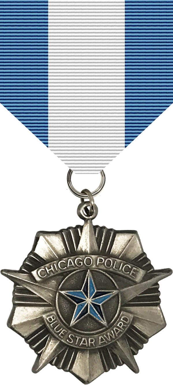Police Blue Star Award Medal