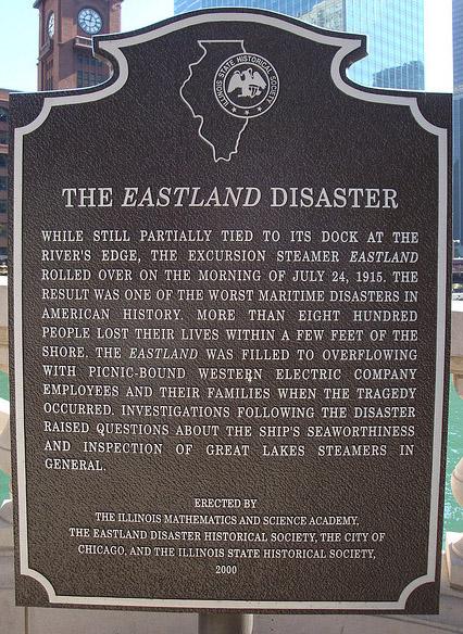 S.S. Eastland Memorial Plaque - Replacement