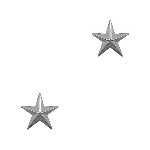 Single Stars - Silver Tone