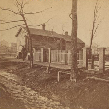 The Great Chicago Fire Mr. & Mrs. Patrick O'Leary's Cottage - No. 137 DeKoven Street Chicago, IL (c1869)