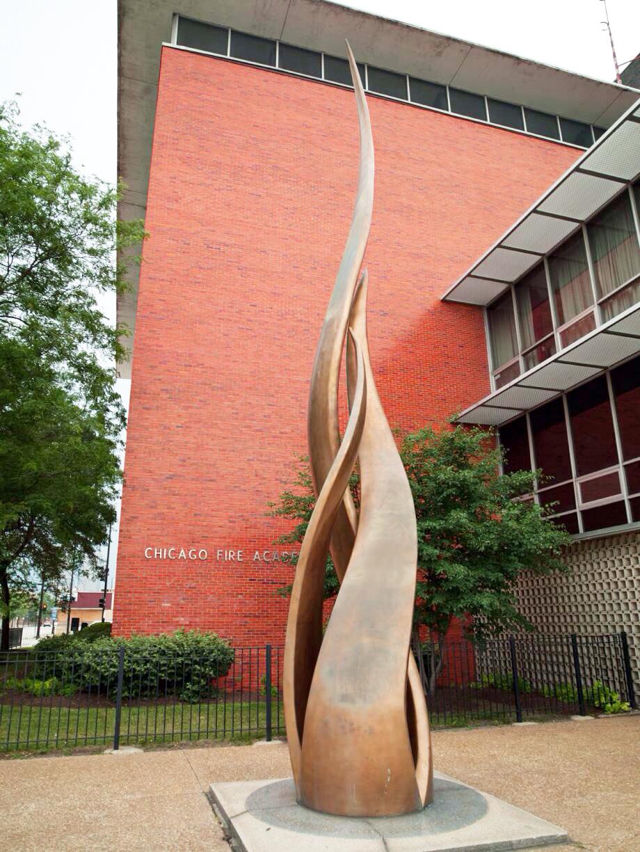 The Great Chicago Fire Pillar Of Fire Sculpture (1961)